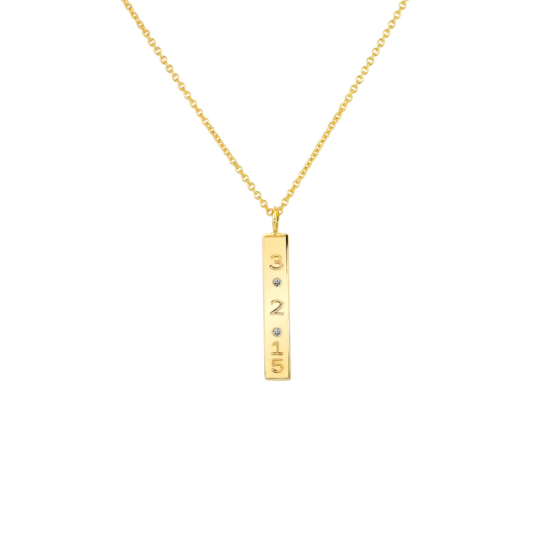 DIAMOND DATE NECKLACE 14K