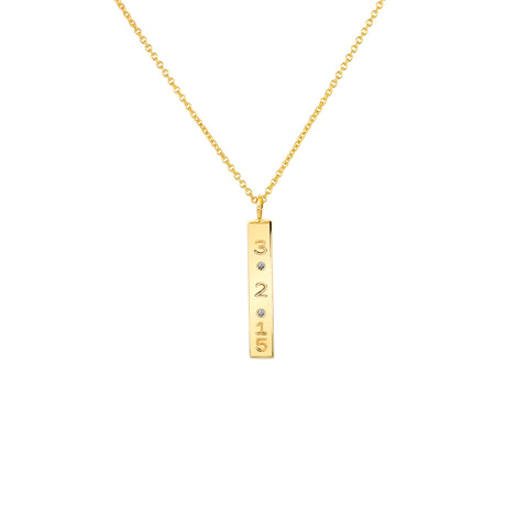 DIAMOND DATE NECKLACE