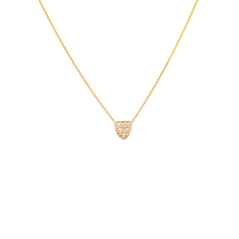 HALF OVAL DIAMOND PAVÉ NECKLACE