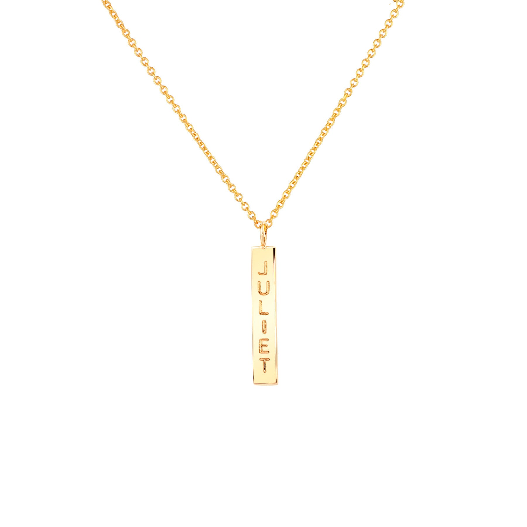LARGE NAME DROP NECKLACE 14K