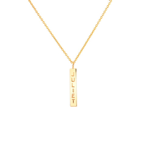 NAME DROP NECKLACE 14K