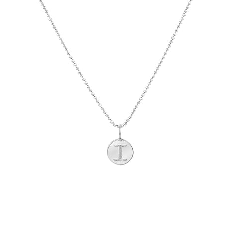 PETITE CIRCLE LETTER NECKLACE STERLING SILVER