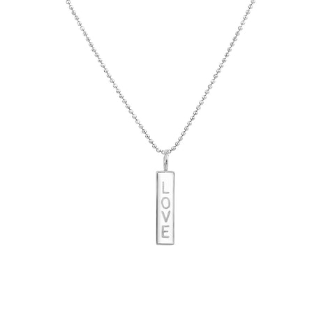 PETITE NAME DROP NECKLACE STERLING SILVER