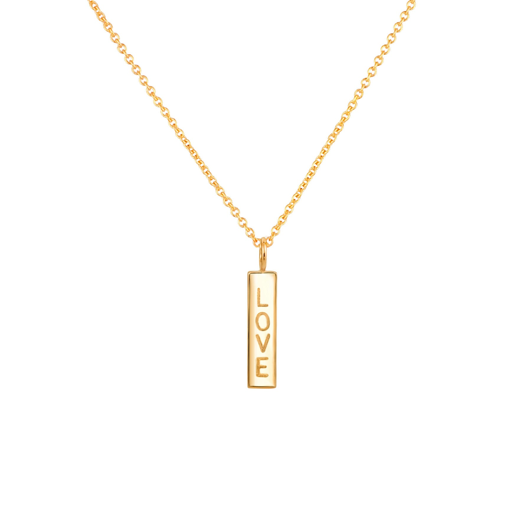 PETITE NAME DROP NECKLACE 14K