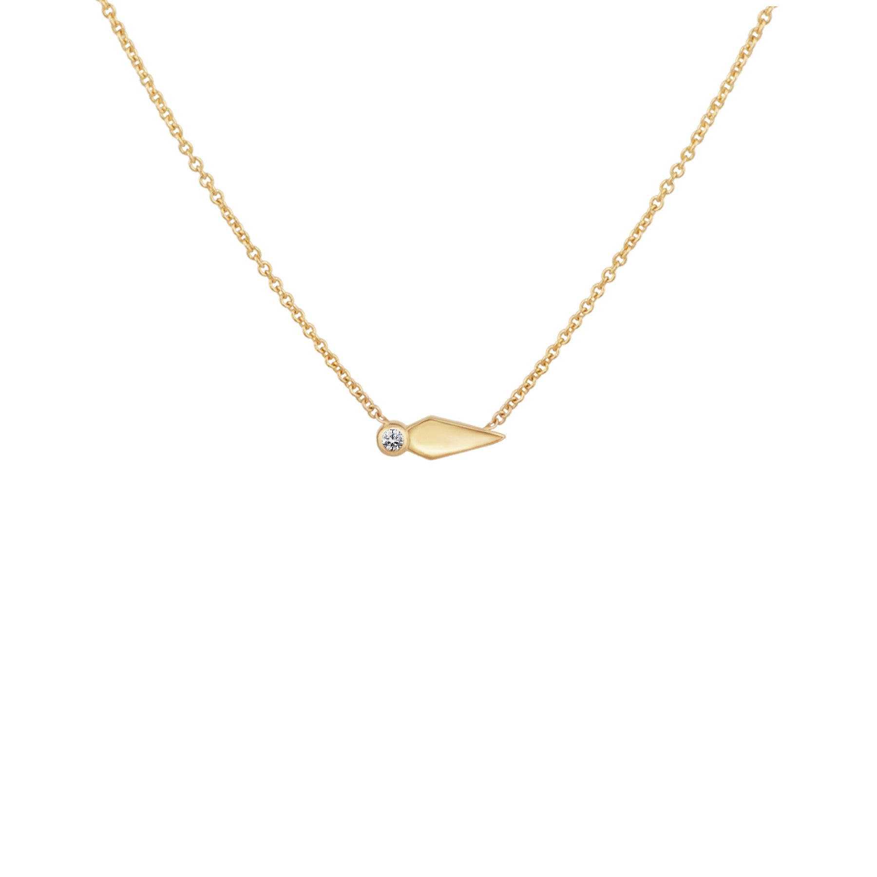 SHOOTING STAR NECKLACE WITH DIAMOND