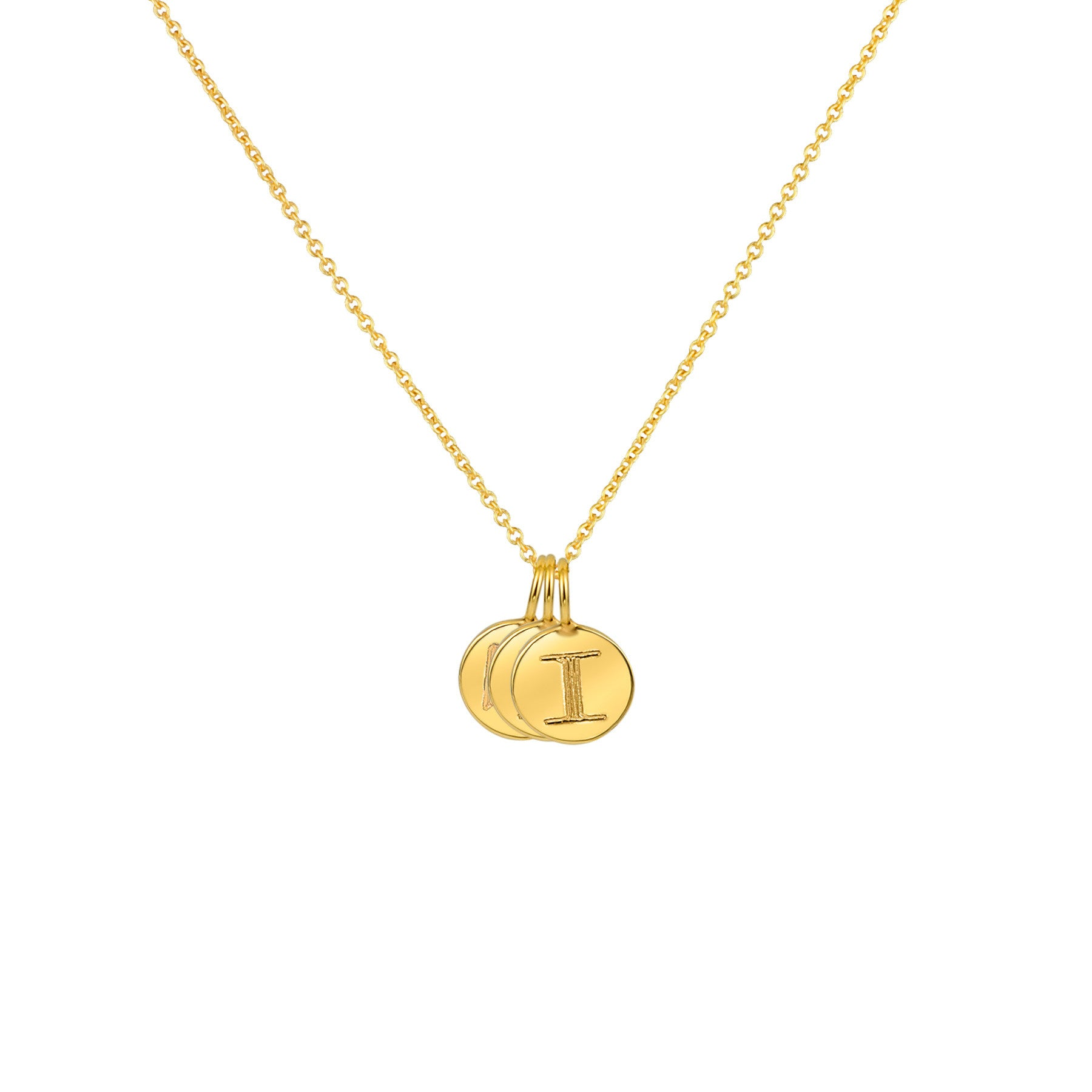 PETITE CIRCLE MULTIPLE CHARM NECKLACE 14K