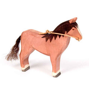 Ostheimer Wooden Horse – Brown with Reins