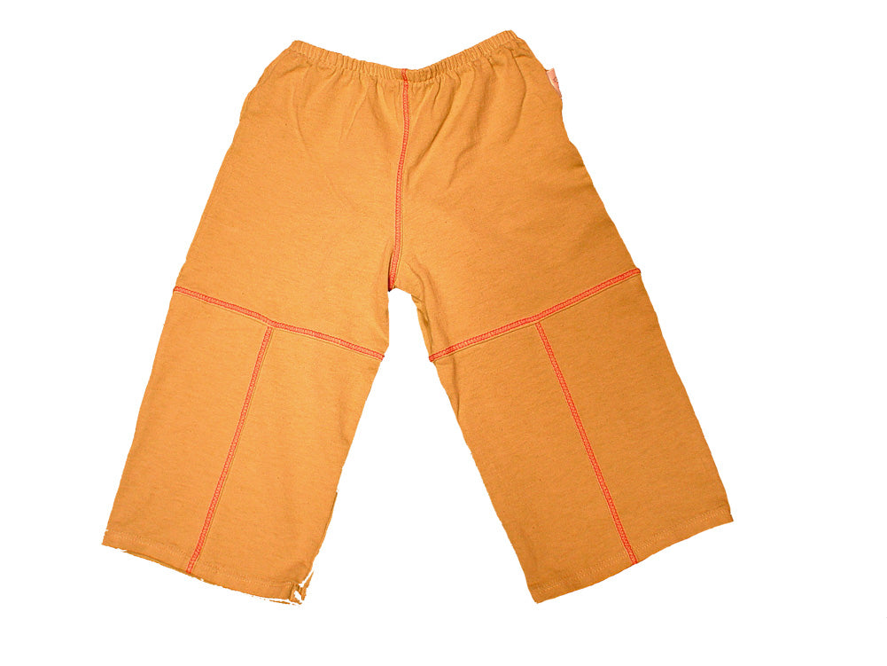 TwOOwls Light Brown/Red Baby Pant -100% organic cotton-Made in the USA