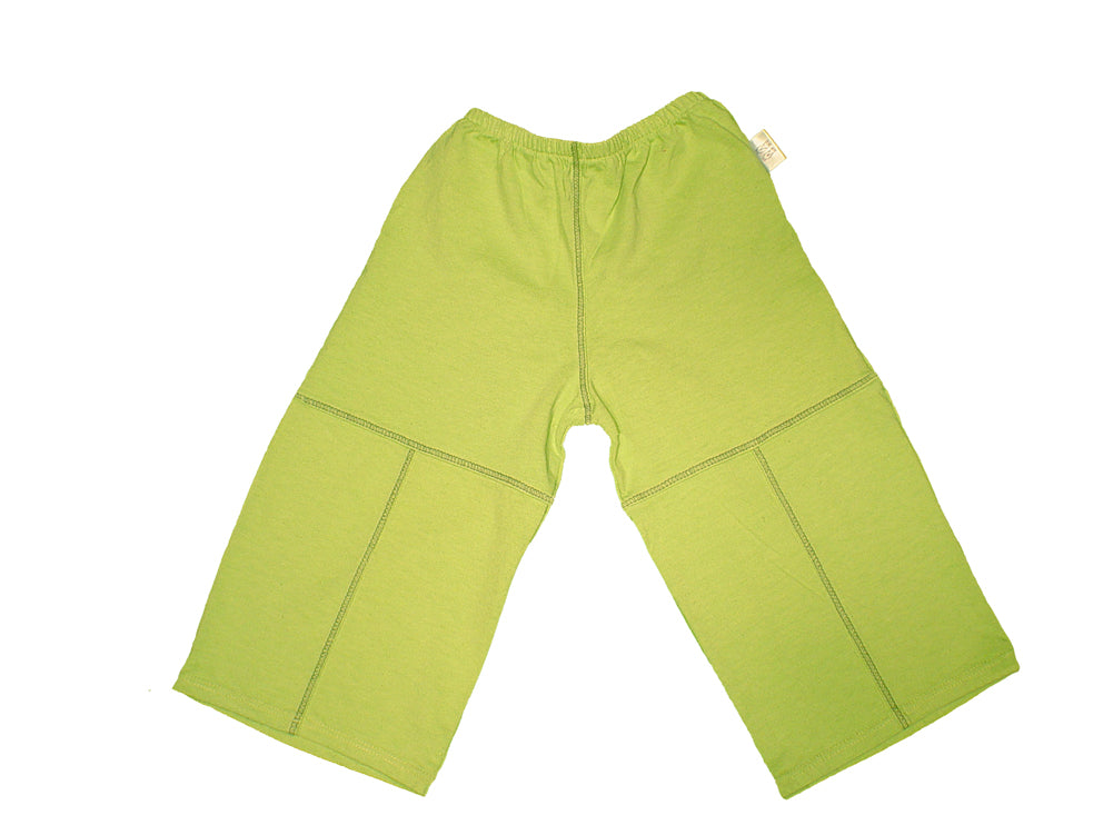 TwOOwls Light Green/Green Baby Pant -100% organic cotton-Made in the USA