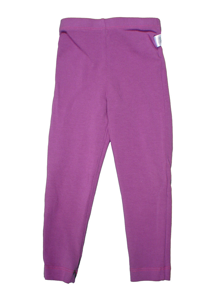 TwOOwls Plum/Pink Baby Long Legging -100% organic cotton-Made in the USA