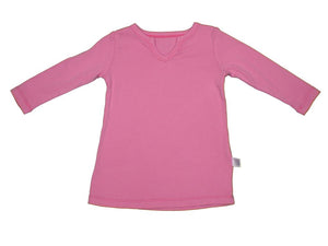 Toddler Long Sleeve Tunic Tee Pink