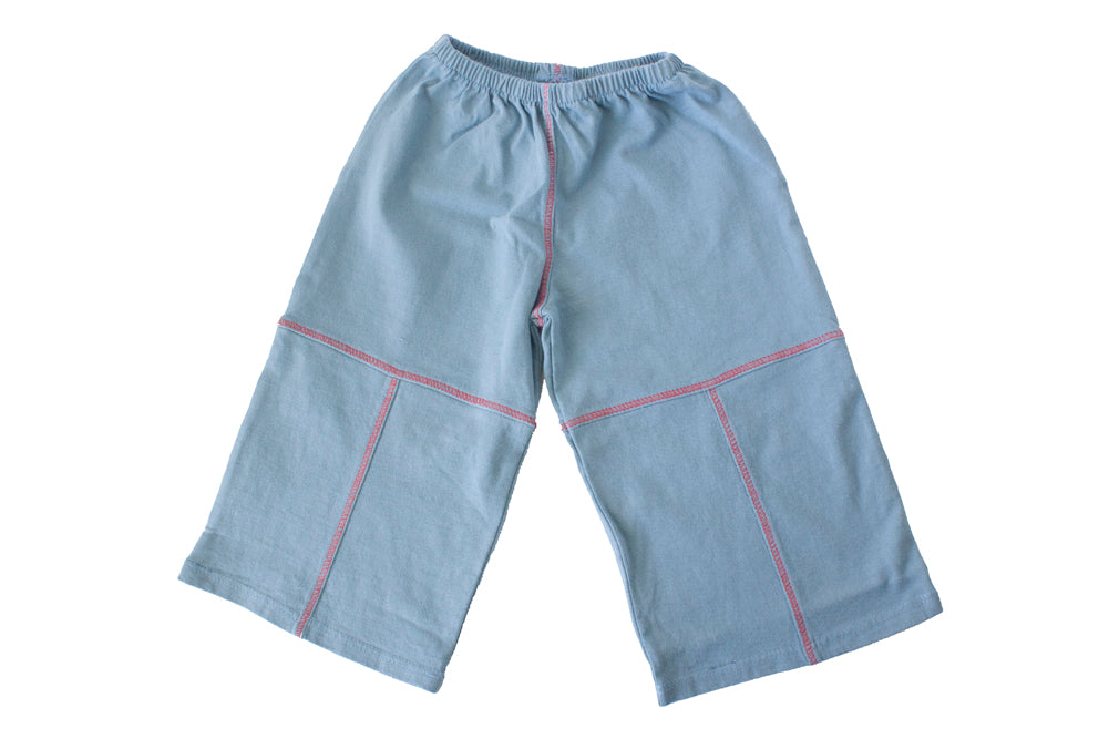 TwOOwls Blue/Red Baby Pant -100% organic cotton-Made in the USA