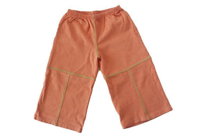 TwOOwls Orange/Green baby Pant -100% organic cotton-Made in the USA