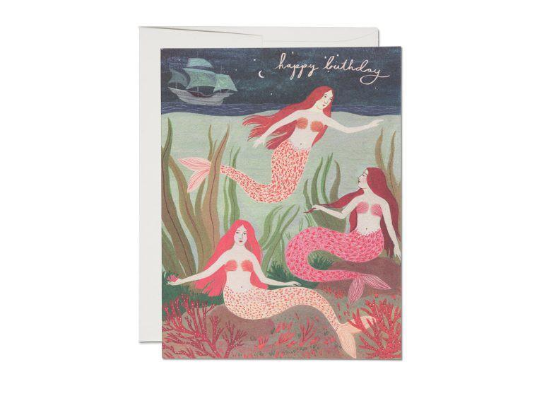 Red Cap Cards - Mermaids