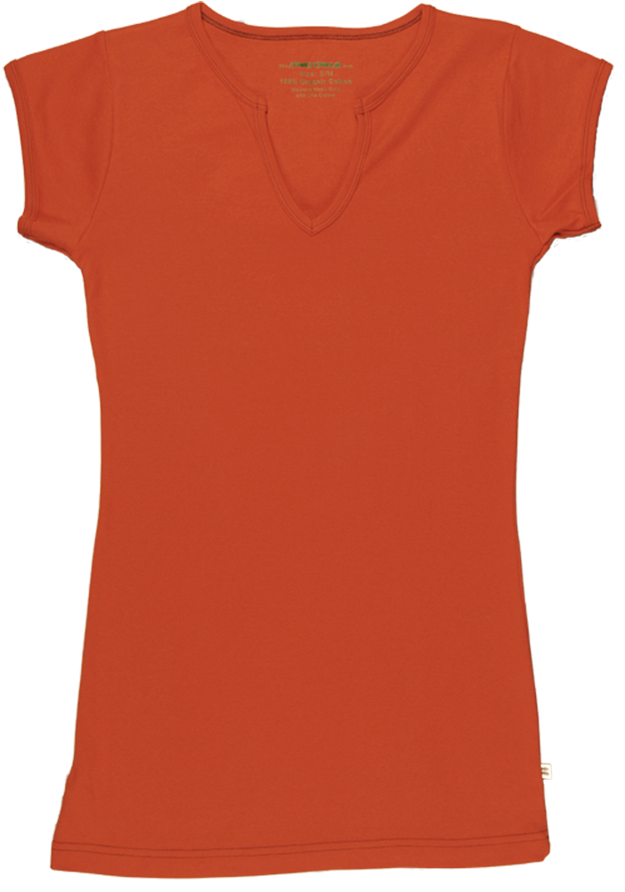 TwOOwls Orange/Brown Womens Short Sleeve Tee -100% organic cotton