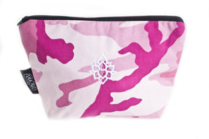 TwOOwls Pink Camo accessories bag with white lotus-One size-Made in the USA