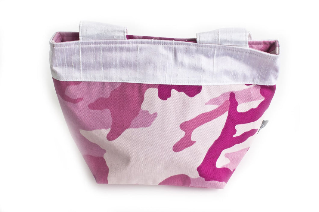 TwOOwls Pink camo mamma bag with white silk-One size-Made in the USA