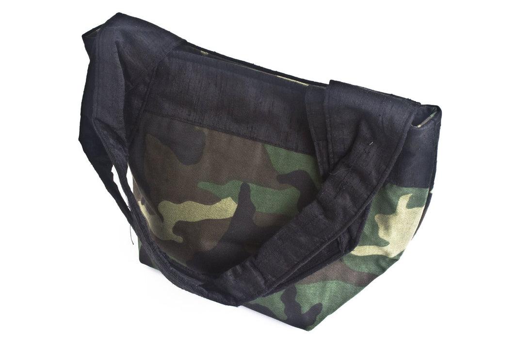 TwOOwls Green camo mamma bag with black silk-One size-Made in the USA