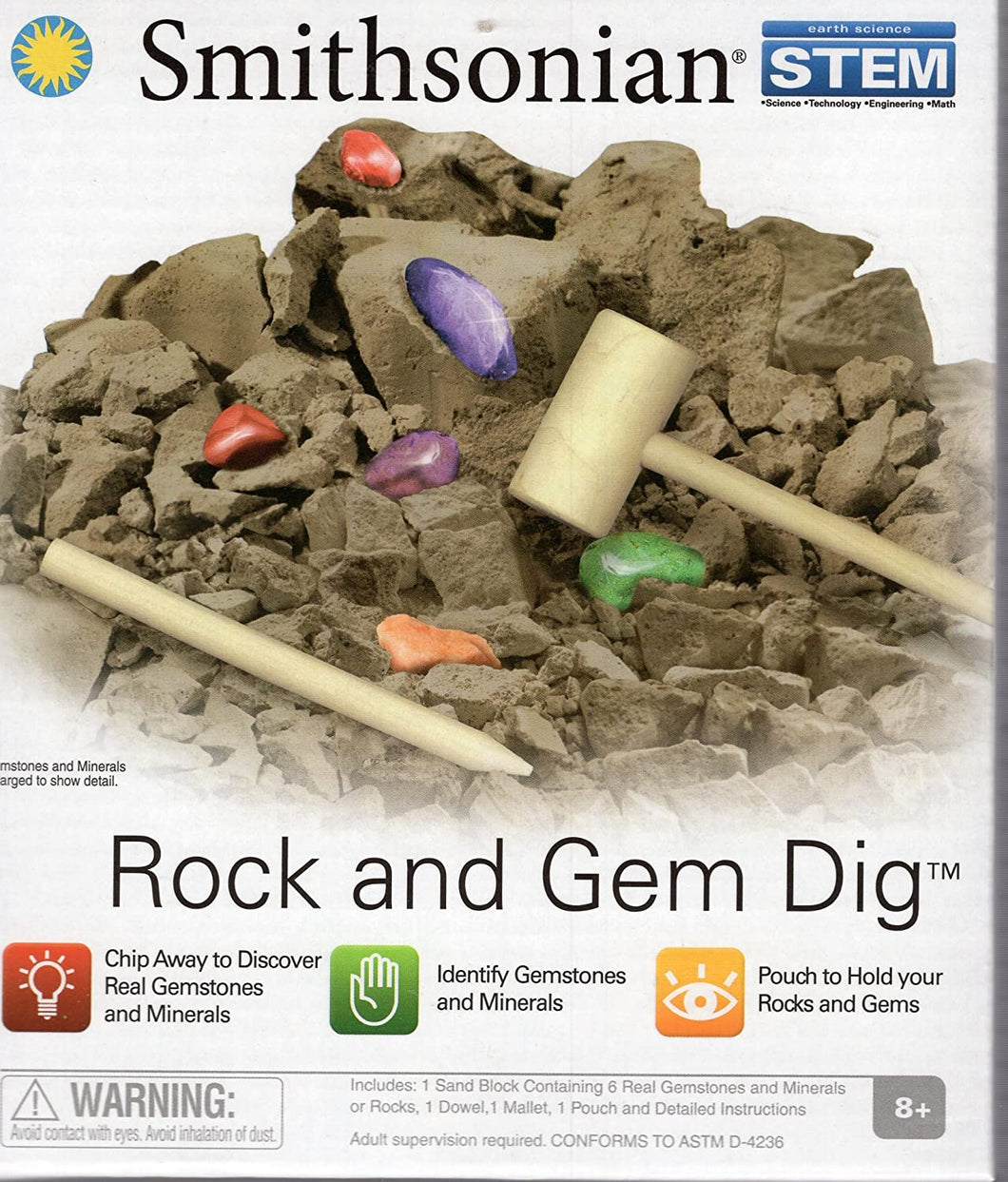 Smithsonian Micro Rock and Gem Dig Science Kit