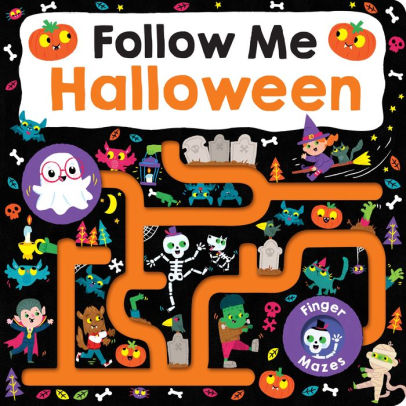 Maze Book: Follow Me Halloween