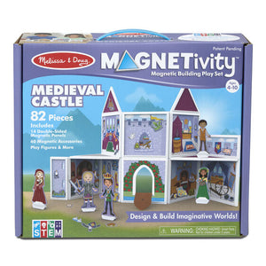 S Magnetivity Magnetic Building Play Set - Medieval Castle
