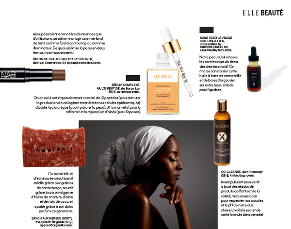 Peptide quench serum as seen in Elle Quebec