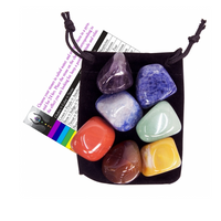 Chakra Tumbled Stone Balancing Kit with Velvet Pouch