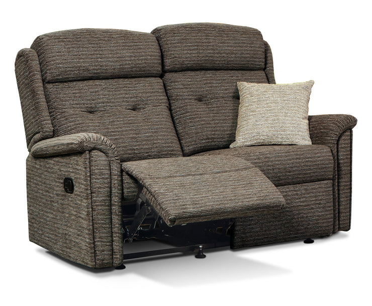 Roma Fabric 2 Seater Recliner Sofa