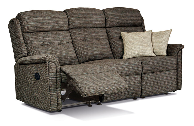 Roma Fabric 3 Seater Recliner Sofa