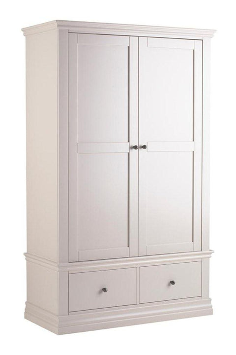 Corndell Annecy Double Wardrobe with Drawers - Painted Top