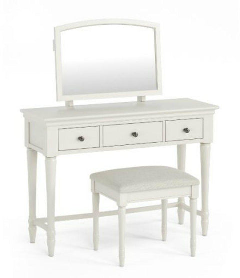 Corndell Annecy Dressing Table & Mirror - Painted Top