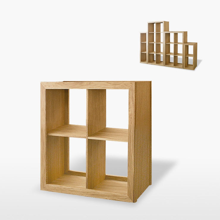 Manor Oak 1 Shelf Double Shelving / Display Unit