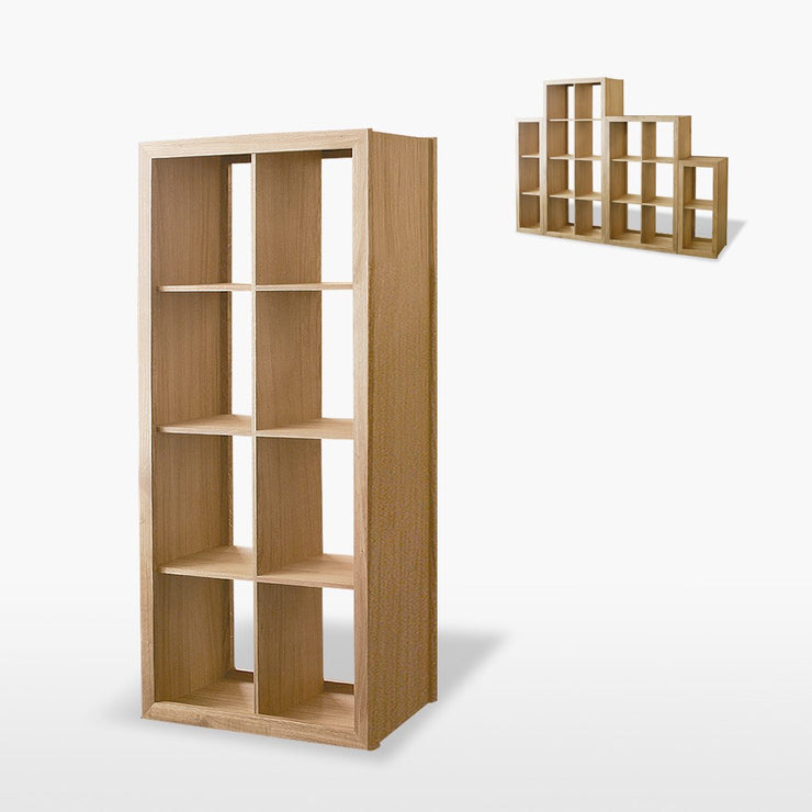 Manor Oak 3 Shelves Double Shelving / Display Unit