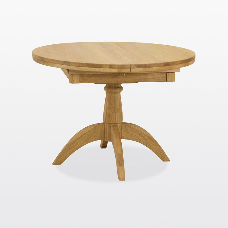 Manor Oak Pedestal Extending Dining Table