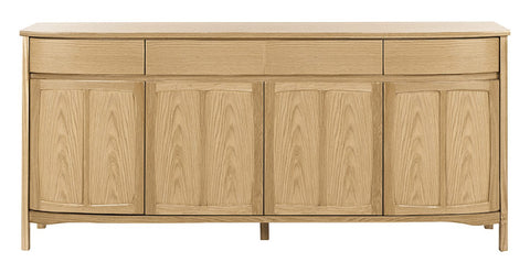 Nathan Shades Oak Shaped 4 Door Sideboard