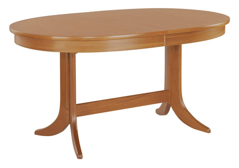Nathan Teak Oval Pedestal Dining Table