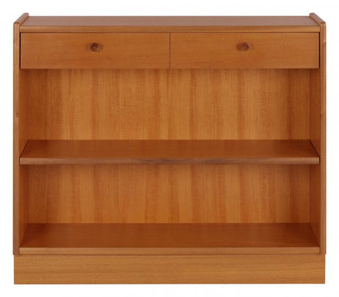 Nathan Teak Low Open Bookcase