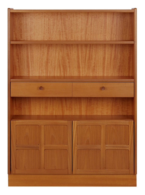 Nathan Teak Medium Bookcase with Drawers