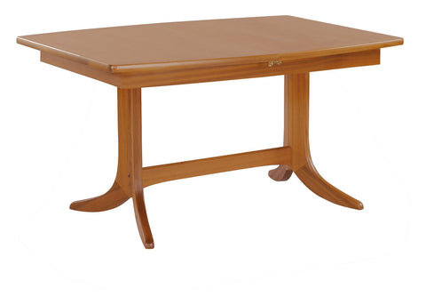 Nathan Teak Small Boat Shaped Pedestal Dining Table