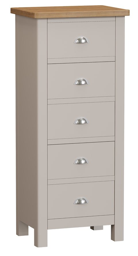 Croft Bedroom Collection 5 Drawer Narrow Chest