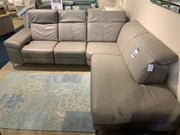 Rom Cadini Leather Corner Sofa with Recliner & Powered Hearest - EX SHOWROOM MODEL TO CLEAR