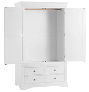 Corsham Painted Bedroom Collection Gents Wardrobe