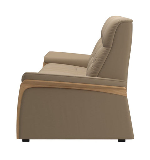 Stressless Mary 3 Seater - Paloma Funghi/Oak Wood