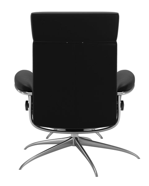 Stressless Tokyo Adjustable Headrest Chair - Paloma Black/Chrome
