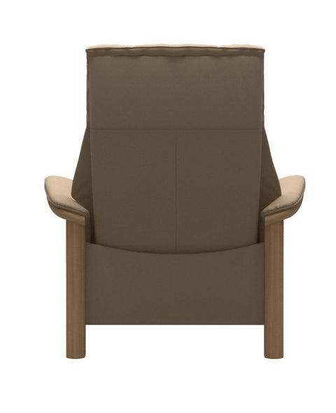 Stressless Windsor High Back Chair - Paloma Beige/Oak Wood