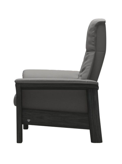 Stressless Windsor High Back Chair - Paloma Silver Grey/Grey Wood