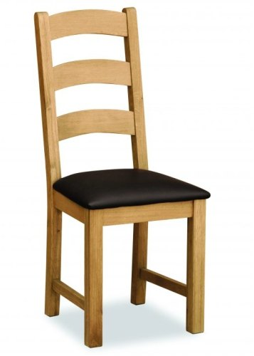 Wexford Lite Living & Dining Ladder Chair with PU Seat Model 585