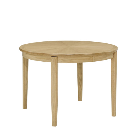Nathan Shades Oak Circular Dining Table on Legs with Sunburst top