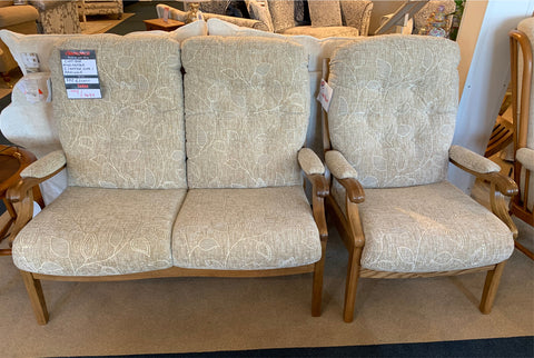 Cintique Winchester 2 Seat Sofa & Chair - EX SHOWROOM TO CLEAR