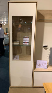 Kyara Tall Vitrine with LED Lighting - EX SHOWROOM MODEL TO CLEAR